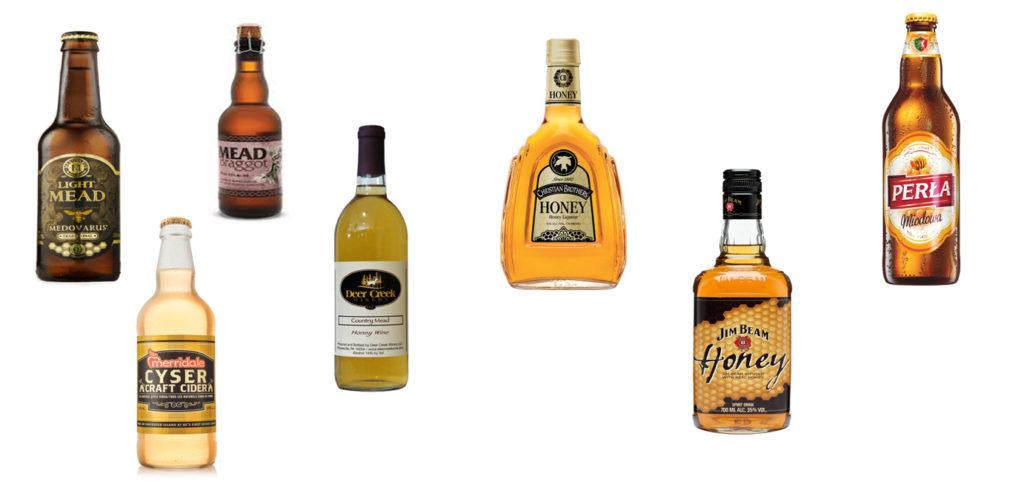 Εικόνα 3: Αλκοολούχα ποτά από μέλι ανά το κόσμο
