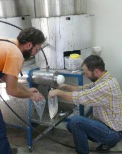 Εικόνα 6. Παρασκευή βανίλιας στο Εργαστήριο Μελισσοκομίας για τις ανάγκες της έρευνας