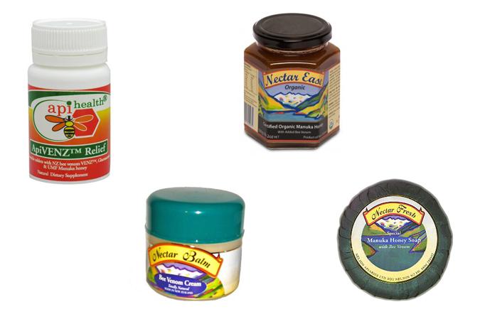 Εικόνα 1: Προϊόντα που περιέχουν δηλητήριο της μέλισσας