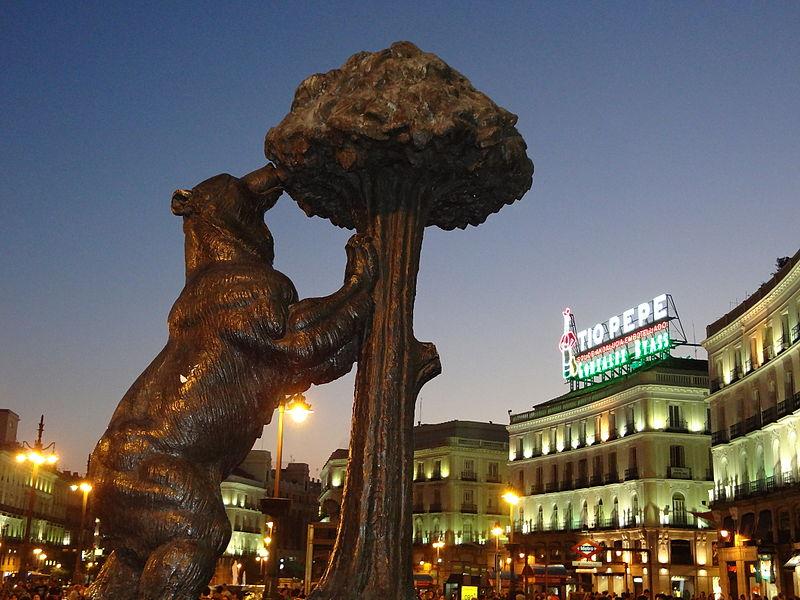 Εικόνα 3: Αρκούδα και κουμαριά. Πλατεία Puerta del Sol της Μαδρίτης